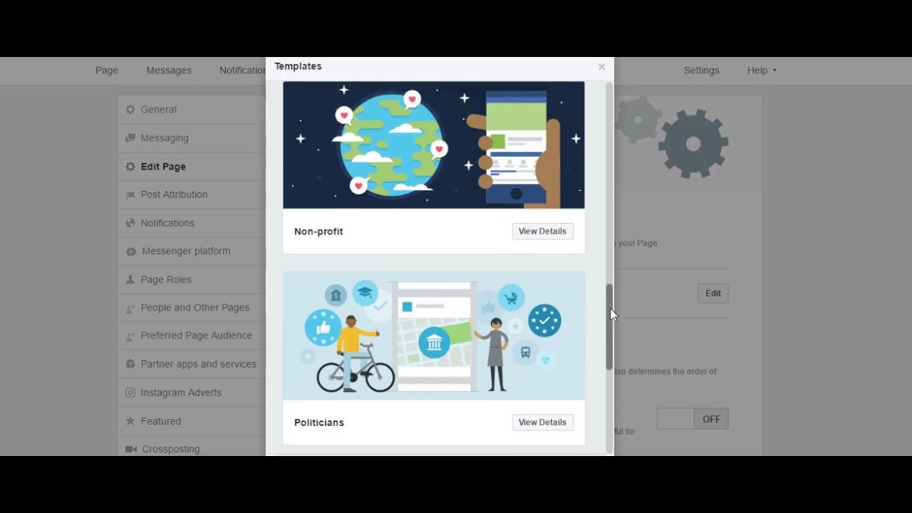 How To Choose Templates In Facebook Business Page With Facebook Templates For Business