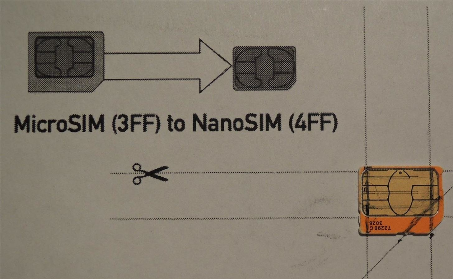 How To Convert A Micro Sim Card To Fit The Nano Slot On Your Htc One With Sim Card Template Pdf