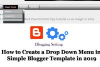How To Create A Drop Down Menu In Simple Blogger Template In regarding Template With Drop Down Menu