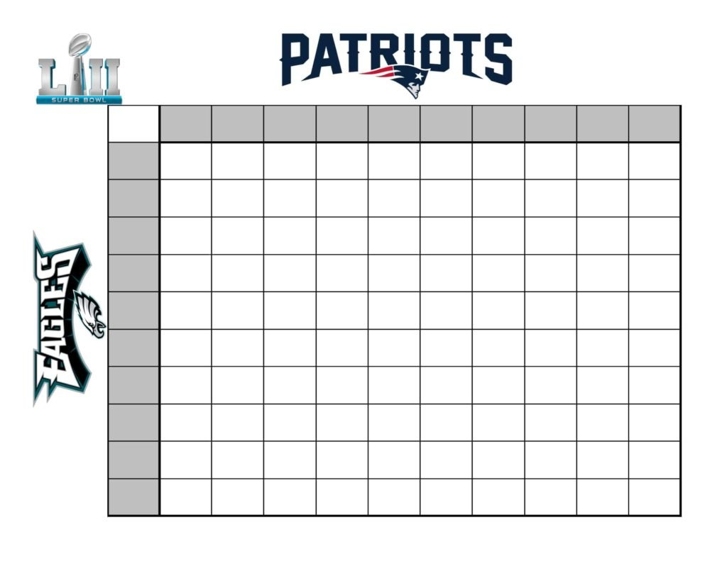 How To Create A Fun Super Bowl Betting Chart Intended For Football Betting Card Template