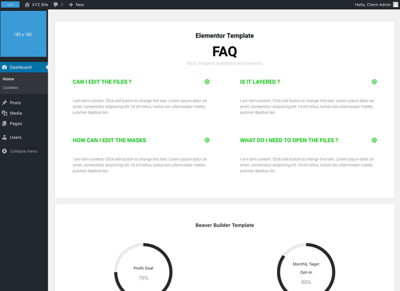 How To Create A WordPress Custom Dashboard For Yourself Or Clients Intended For WordPress Custom Menu Template