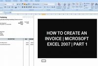 How To Create An Invoice  Microsoft Excel   Part   Youtube with Invoice Template In Excel 2007
