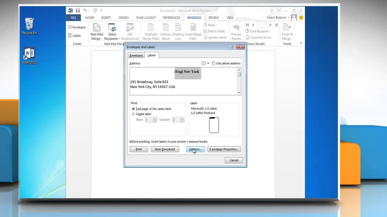 How To Create And Print Mailing Labels On Microsoft® Word With Regard To Creating Label Templates In Word