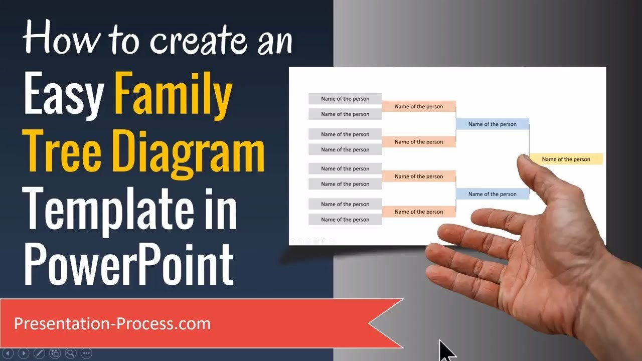How To Create Family Tree Diagram Template In Powerpoint  Youtube Intended For Powerpoint Genealogy Template
