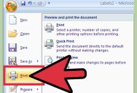How To Create Labels Using Microsoft Word   Steps pertaining to How To Set Up Label Template In Word