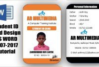 How To Create Professional Student Id Card In Ms Word Two Part within College Id Card Template Psd