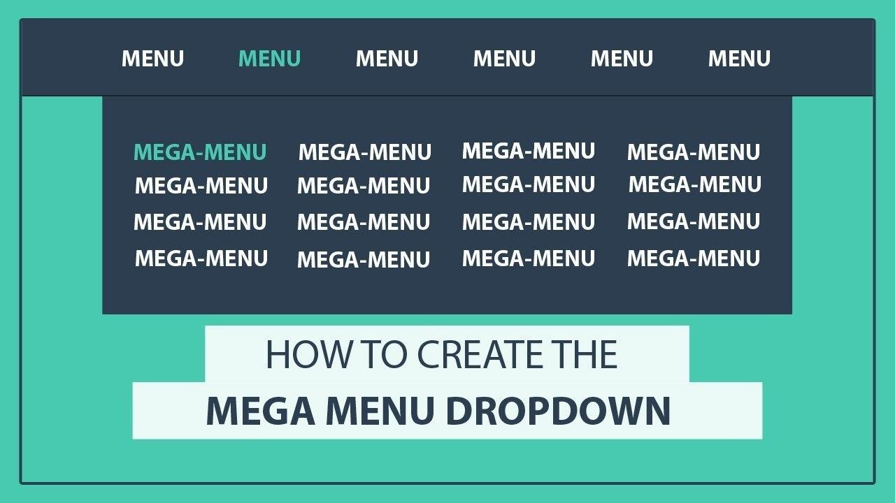 How To Create The Mega Drop Down Menu Using Html And Css  Css Mega Regarding Drop Down Menu Template Html