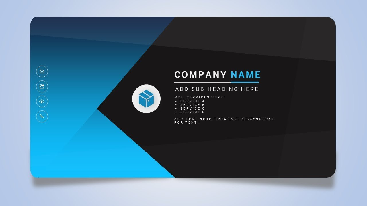 How To Design A Creative Business Or Name Card In Microsoft Office Throughout Business Card Powerpoint Templates Free