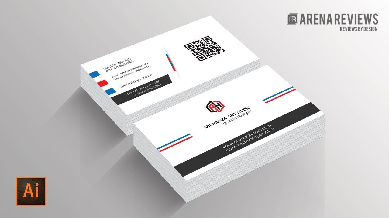 How To Design Business Card Template Illustrator Cc Tutorial  Youtube In Visiting Card Illustrator Templates Download