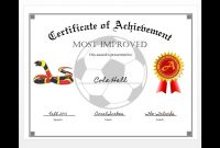 How To Easily Make A Certificate Of Achievement Award With Ms Word in Soccer Certificate Templates For Word