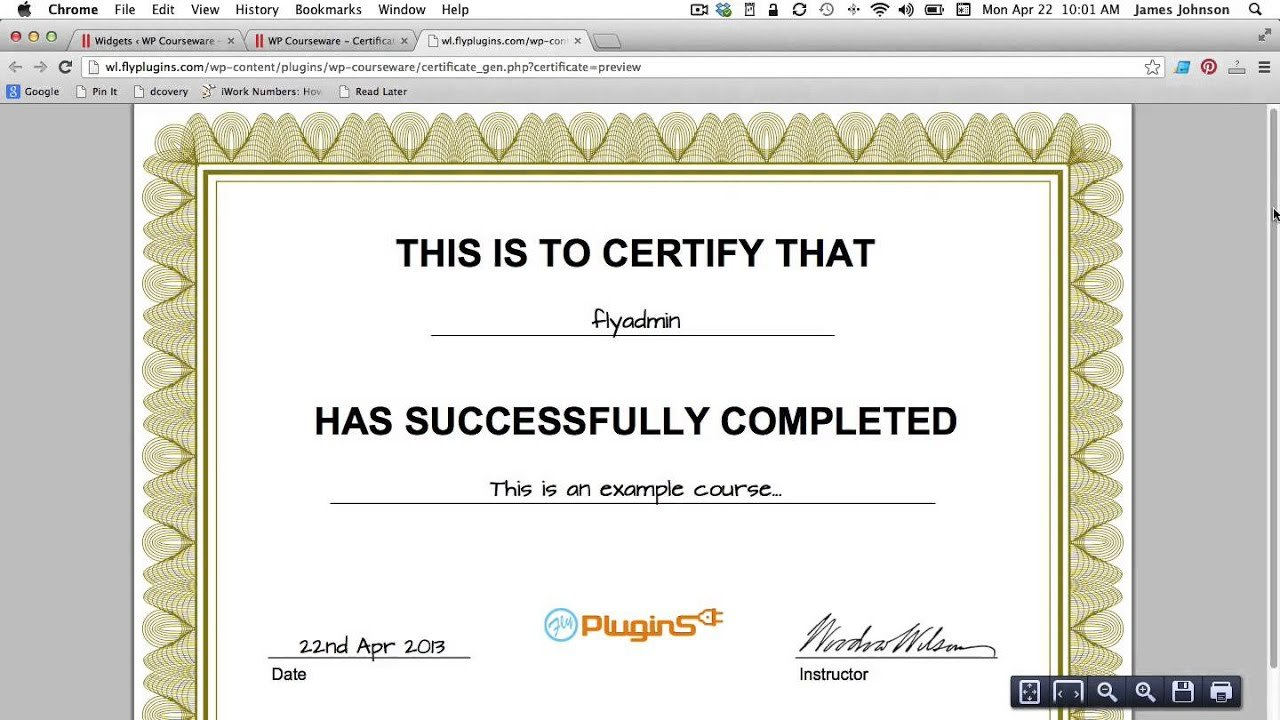 How To Generate A Pdf Certificate Of Completion For Your Course Within Class Completion Certificate Template
