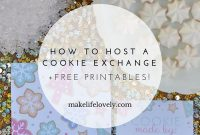 How To Host A Successful Cookie Exchange  Free Printables within Cookie Exchange Recipe Card Template