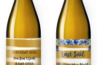 How To Make A Custom Label From A Template; Stepstep Guide throughout Diy Wine Label Template