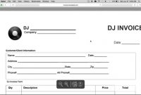 How To Make A Disc Jockey Dj Invoice  Excel  Word  Pdf  Youtube with regard to Invoice Template For Dj Services
