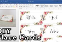 How To Make Diy Place Cards With Mail Merge In Ms Word And Adobe Illustrator with regard to Place Card Size Template