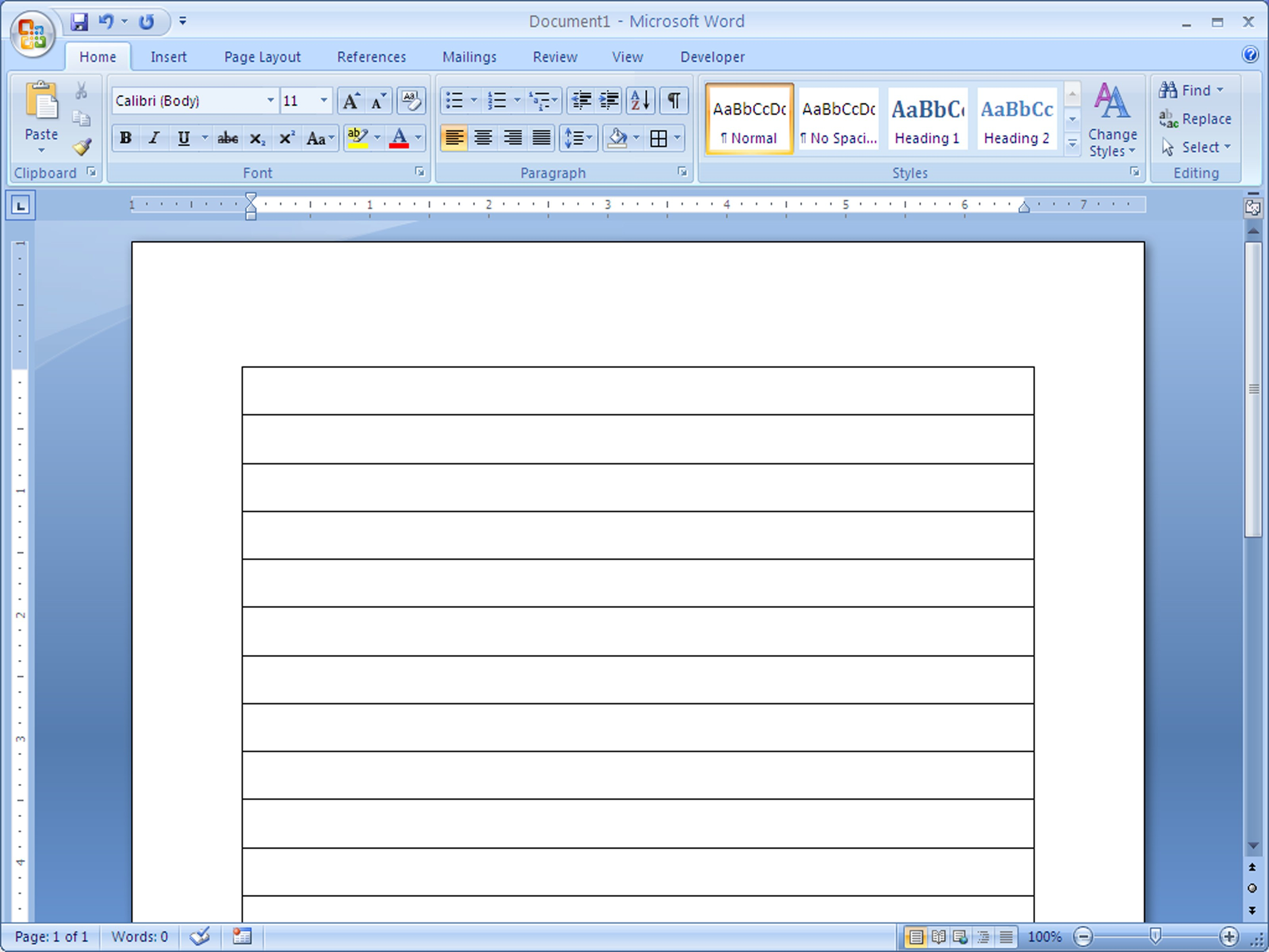 How To Make Lined Paper In Word   Steps With Pictures With Regard To Microsoft Word Lined Paper Template