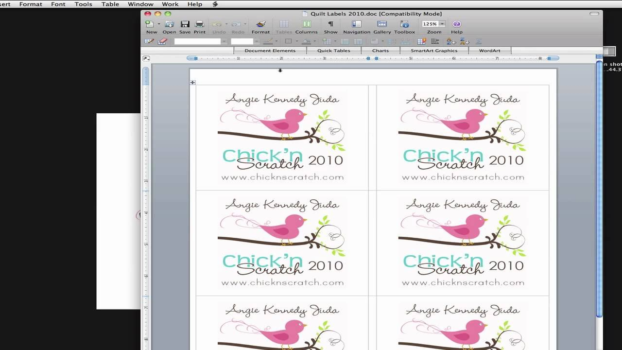 How To Make Quilt Label  Youtube For Quilt Label Templates
