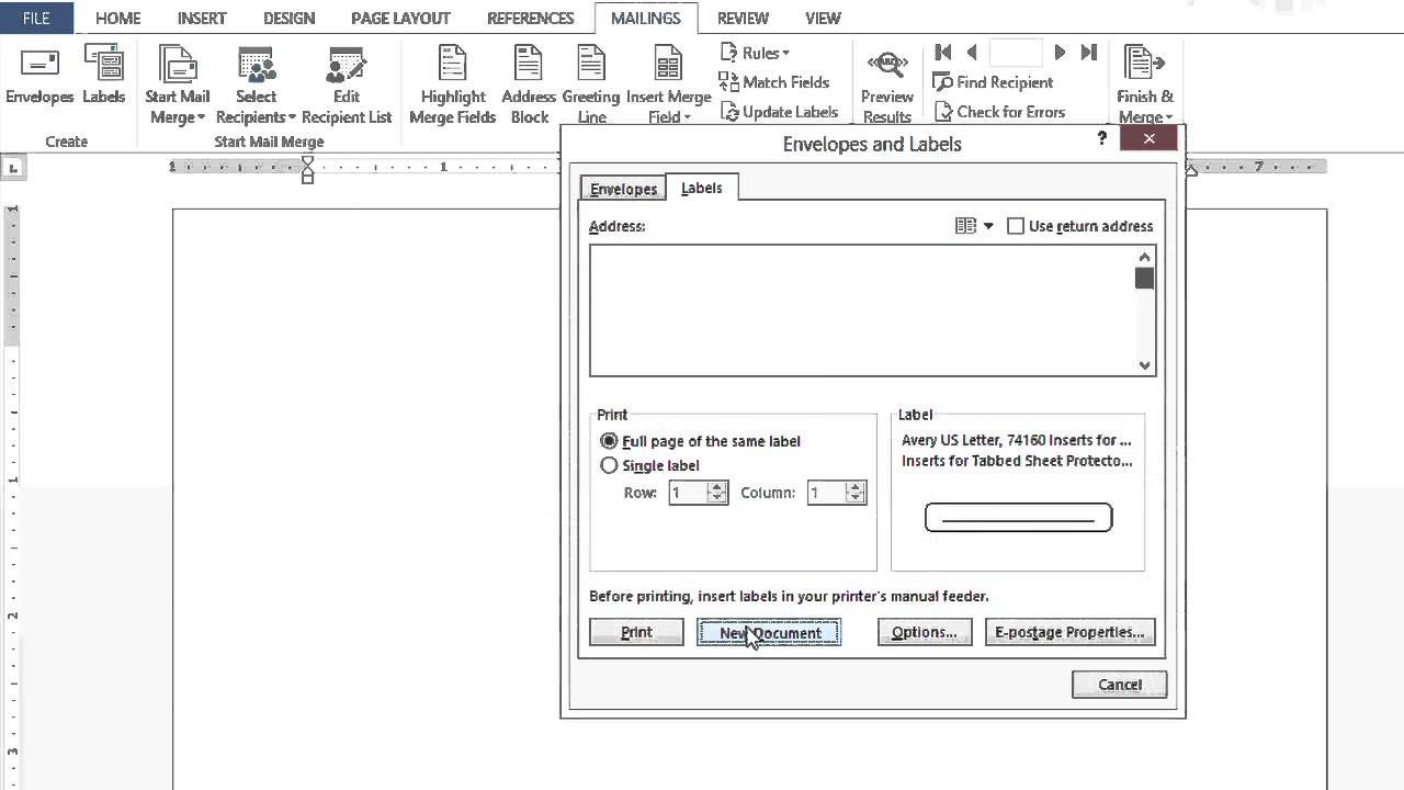 How To Set Up Microsoft Word Documents To Create Tabs  Dividers Within How To Set Up Label Template In Word