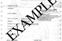 How To Travel With Children Into And Out Of South Africa inside South African Birth Certificate Template