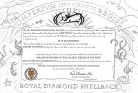 How To Turn Slimy Polliwogs Into Trusty Shellbacks  Jay On A Boat throughout Crossing The Line Certificate Template