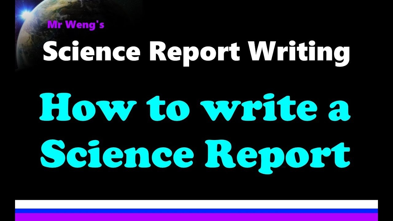 How To Write A Science Report Throughout Science Report Template Ks2