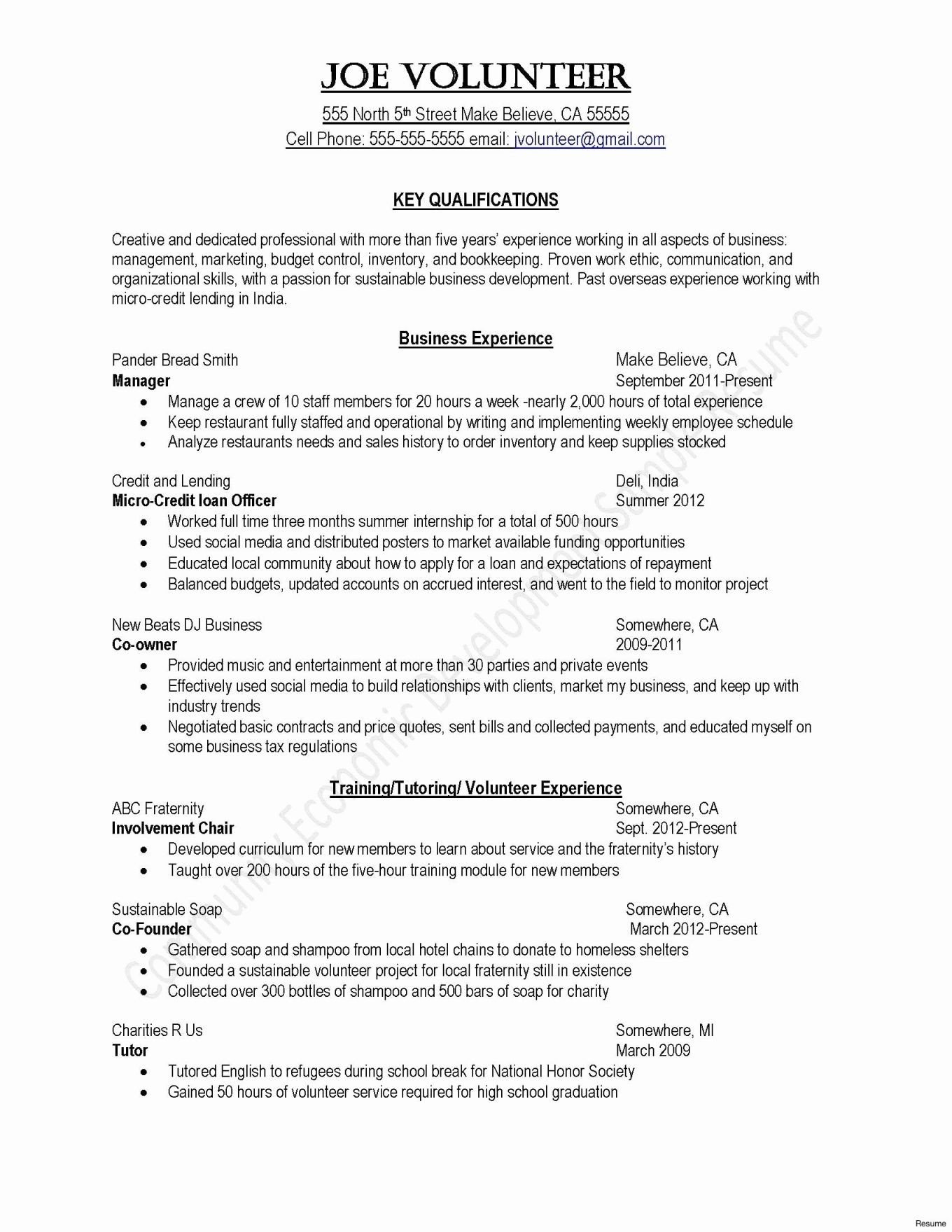 How To Write Business Profile Template Valid Sample Resume Inside How To Write Business Profile Template