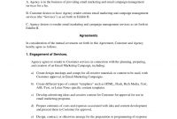 How To Write Your Own Email Marketing And Campaign Agreement  Work within Business Management Contract Template