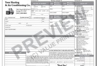 Hvac Flat Rate Service Ticket  Pelican Ac And Heat Items In in Hvac Invoices Templates