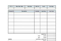 Hvac Service Order Invoice Template Oder Excel Invoice Template with Hvac Service Order Invoice Template