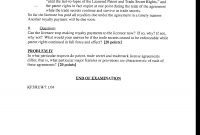 Hypothetical License Agreement  Technology Licensing  Past Paper inside Trade Secret License Agreement Template
