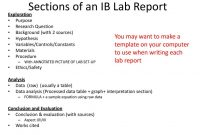 Ib Biology Lab Report Guidelines  Ppt Download pertaining to Ib Lab Report Template