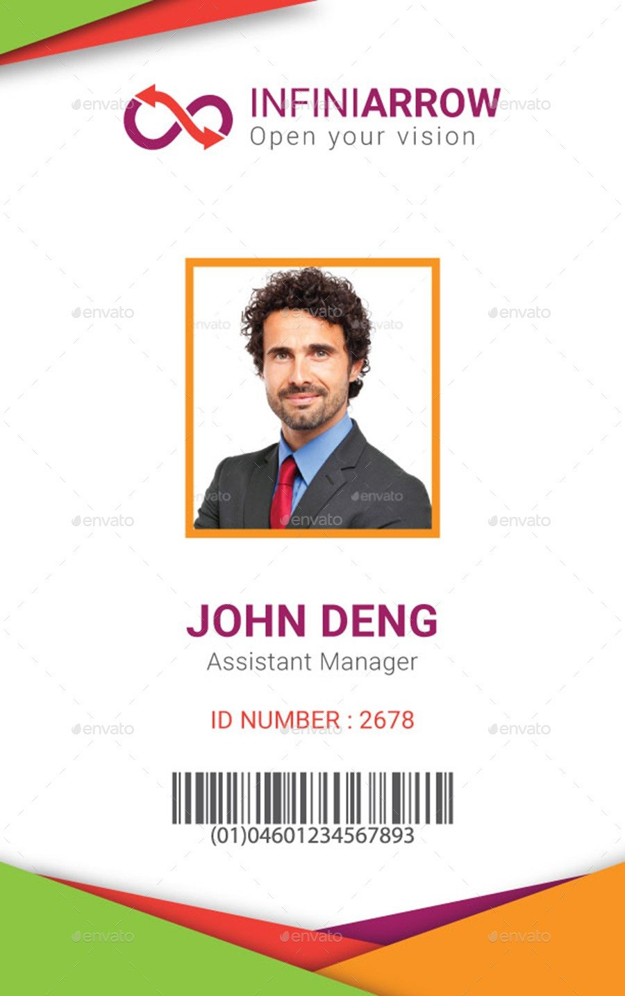 Id Card Template  Madinbelgrade For Sample Of Id Card Template