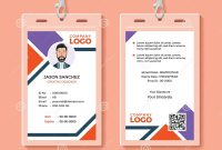 Id Card Template Stock Vector Illustration Of Backstage with Personal Identification Card Template