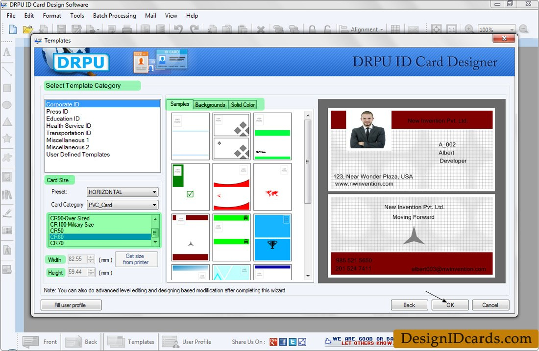 Id Cards Maker Software  Design Identity Cards For Staff Or Students With Faculty Id Card Template
