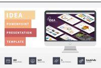 Idea Flat Powerpoint Presentation Template On Behance with Powerpoint Presentation Template Size