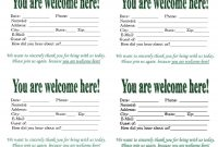 Ideas For Church Visitor Card Template Of Your Service  Wosing with regard to Church Visitor Card Template