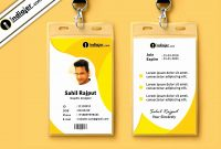 Identification Card Template  Letter Adress inside Sample Of Id Card Template