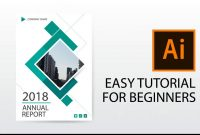 Illustrator Tutorial  How To Design Annual Report Cover Brochure throughout Illustrator Report Templates