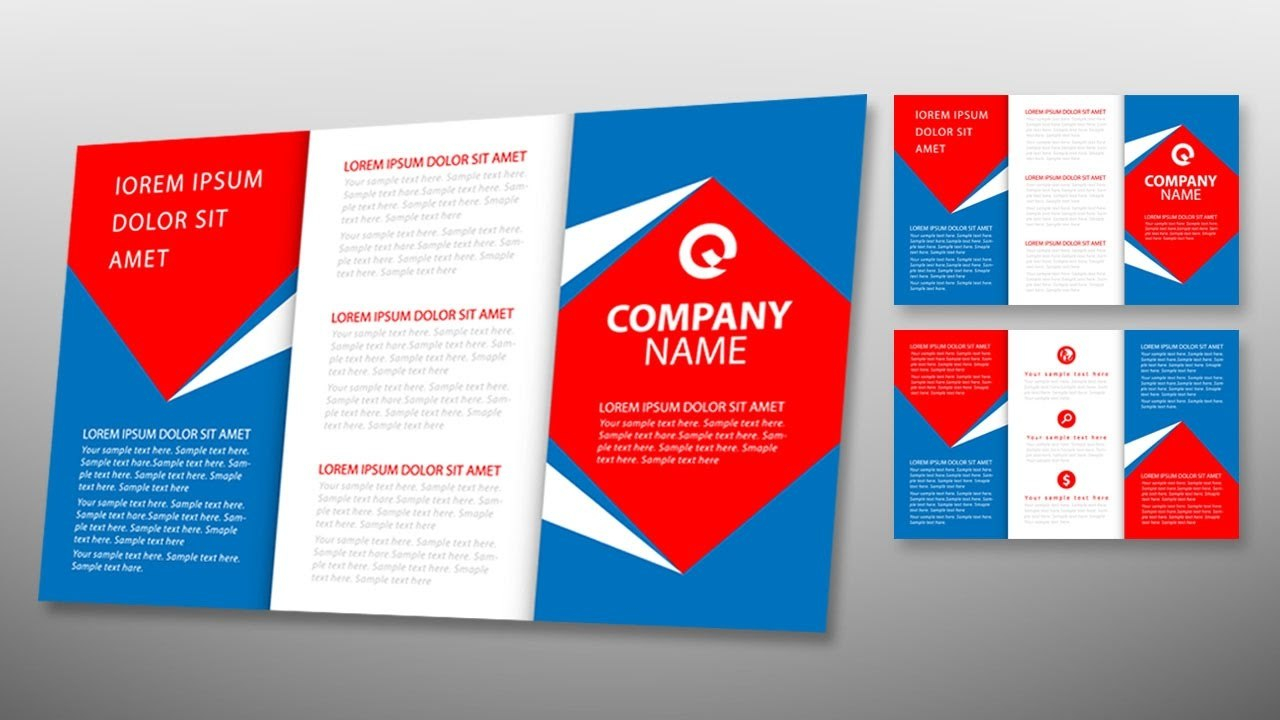 Illustrator Tutorial  Tri Fold Brochure Design Template  Youtube Intended For Tri Fold Brochure Ai Template