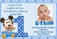 Image For Mickey Mouse Clubhouse St Birthday Invitations  Ankita for First Birthday Invitation Card Template