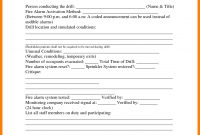 Image Result For Fire Drill Procedures For Summer Camp  Report regarding Emergency Drill Report Template