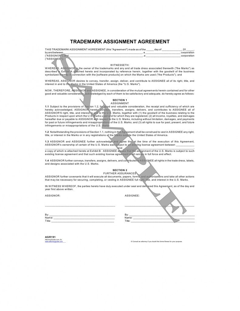 Images Of Assignment Of Benefits Form Template  Libchen In Trademark Assignment Agreement Template