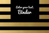 Images Of Black And White Business Binder Cover Template inside Business Binder Cover Templates
