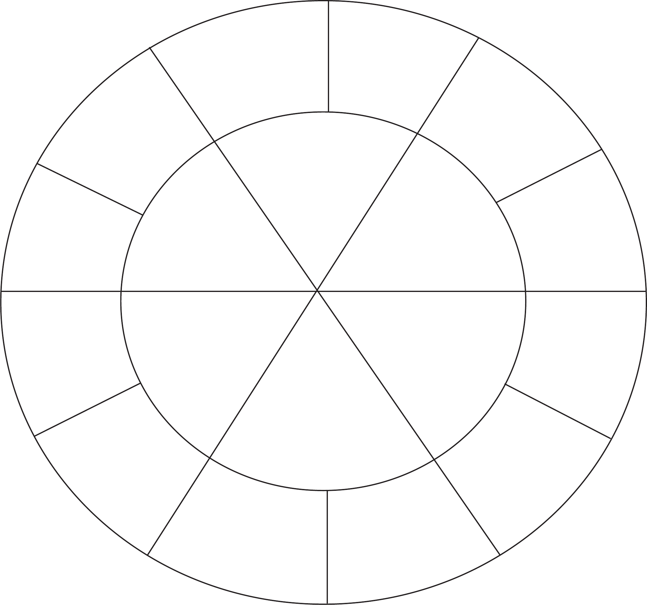 Images Of Blank Wheel Template  Sections  Nategray Pertaining To Blank Color Wheel Template