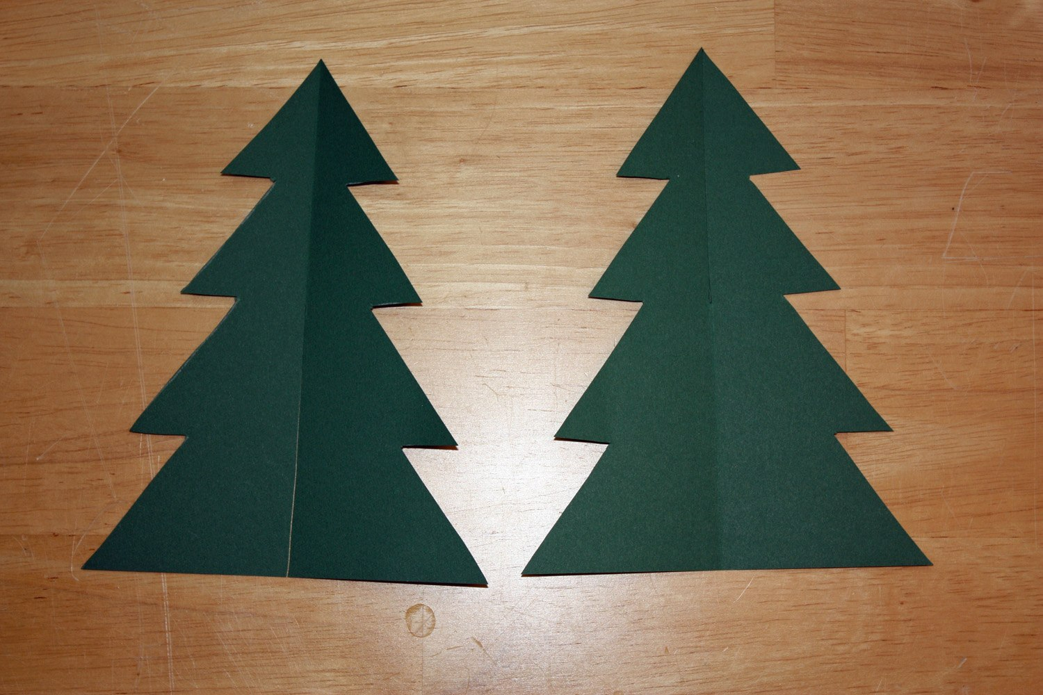 Images Of D Christmas Tree Printable Template  Elcarco In 3D Christmas Tree Card Template