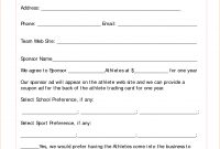Images Of Digital Sponsorship Agreement Template Form  Linaca With Regard To Club Sponsorship Agreement Template