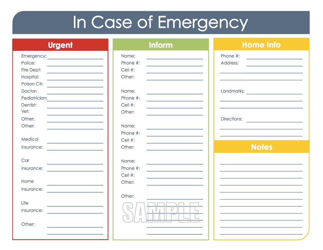 Images Of Emergency Card Template For High School Deerfield Throughout In Case Of Emergency Card Template