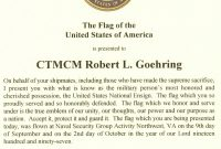Images Of Military Retirement Flag Certificate Template  Unemeuf for Retirement Certificate Template
