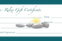 Images Of Spa Gift Certificate Template  Krydia inside Massage Gift Certificate Template Free Download