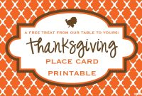 Images Of Turkey Place Card Printable Template  Bfegy throughout Thanksgiving Place Card Templates